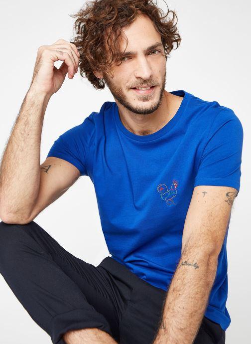Vêtements Faguo ARCY T-SHIRT COTTON Bleu vue détail/paire