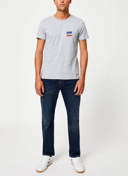 Vêtements Faguo ARCY T-SHIRT COTTON Gris vue bas / vue portée sac