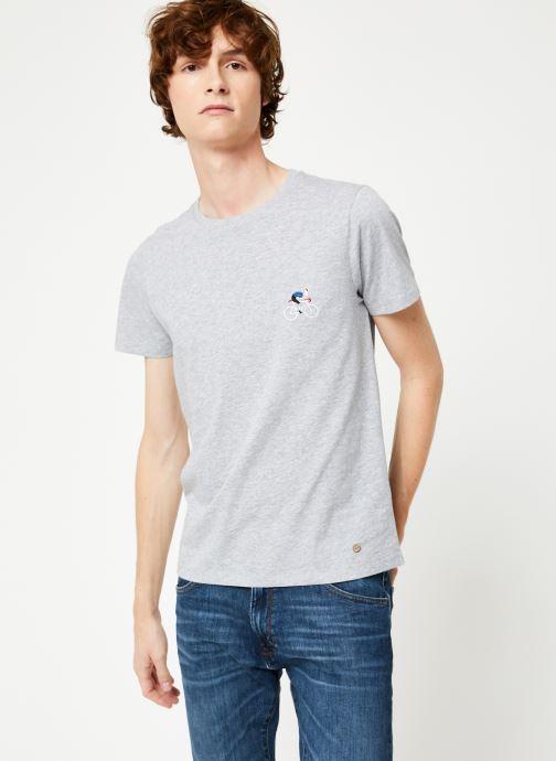 Vêtements Faguo ARCY T-SHIRT COTTON Gris vue droite