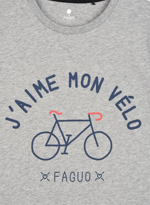 Vêtements Faguo ARCY T-SHIRT COTTON Gris vue face
