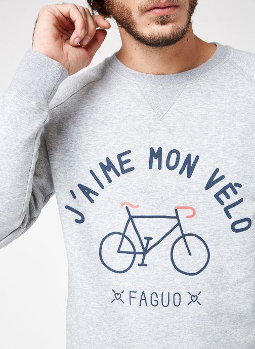 358122 Vêtements Sweat Darney gris Faguo Cotton Chez wTqOC4Y4
