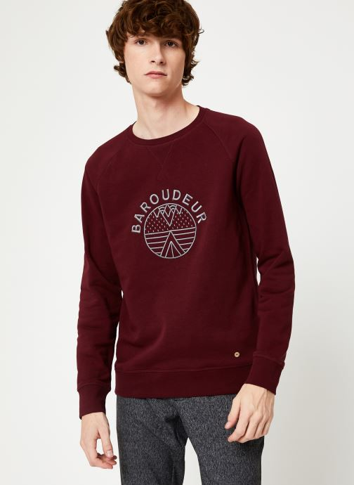Vêtements Faguo DARNEY SWEAT COTTON Bordeaux vue détail/paire