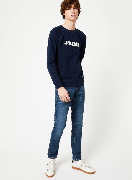 Vêtements Faguo DARNEY SWEAT COTTON Bleu vue bas / vue portée sac