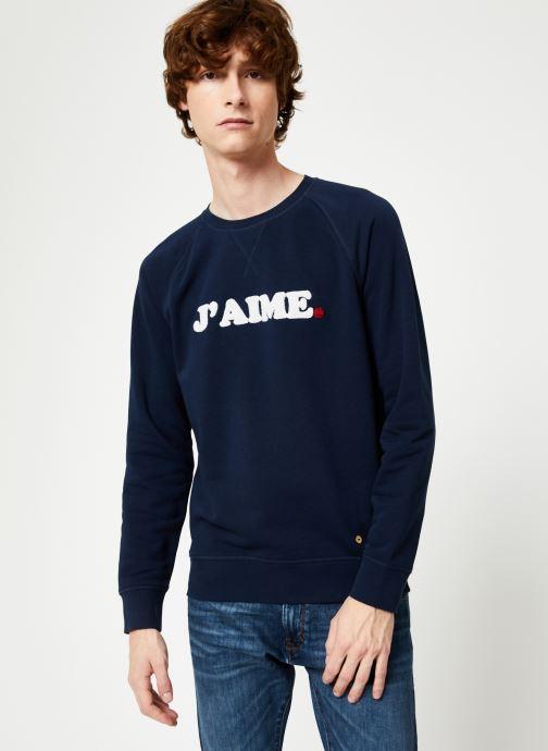 Vêtements Faguo DARNEY SWEAT COTTON Bleu vue détail/paire