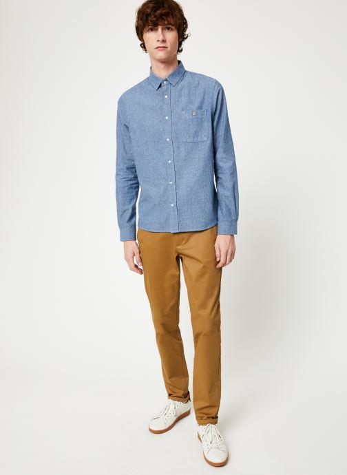 Vêtements Faguo ONCA SHIRT COTTON Bleu vue bas / vue portée sac