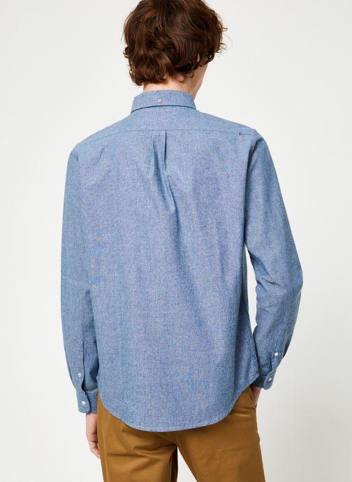 Vêtements Faguo ONCA SHIRT COTTON Bleu vue portées chaussures