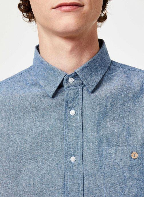 Vêtements Faguo ONCA SHIRT COTTON Bleu vue face