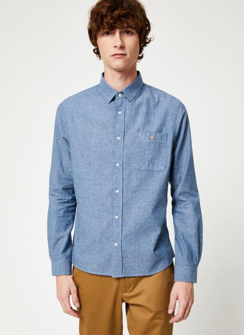 Vêtements Faguo ONCA SHIRT COTTON Bleu vue droite
