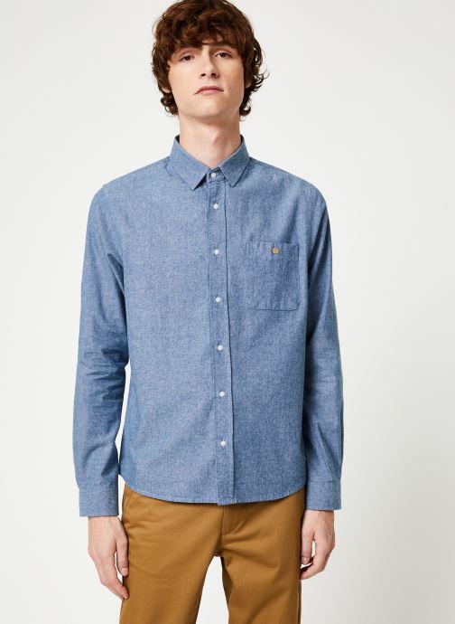 Vêtements Faguo ONCA SHIRT COTTON Bleu vue détail/paire
