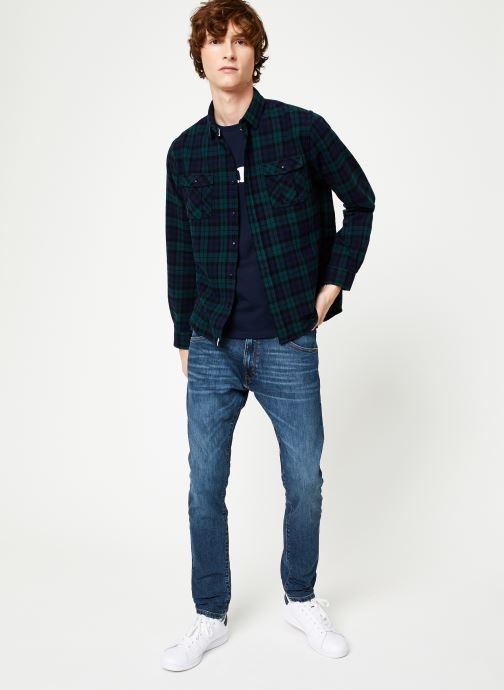 Vêtements Faguo CERISY SHIRT COTTON Bleu vue bas / vue portée sac