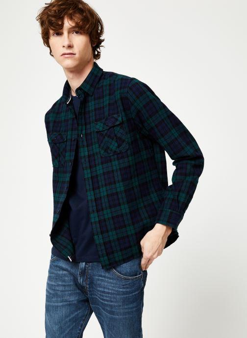 Vêtements Faguo CERISY SHIRT COTTON Bleu vue droite