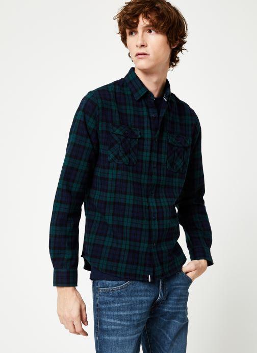Vêtements Faguo CERISY SHIRT COTTON Bleu vue détail/paire