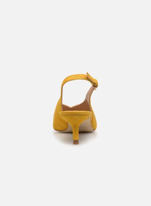 Zapatos de tacón L.K. Bennett Livia Amarillo vista lateral derecha