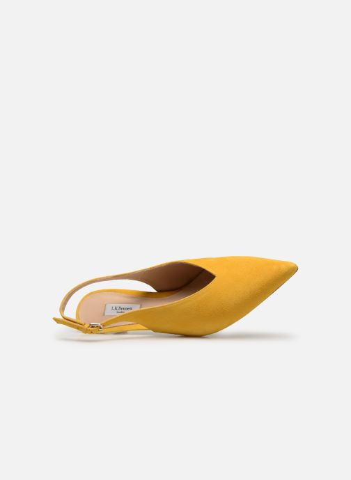 Zapatos de tacón L.K. Bennett Livia Amarillo vista lateral izquierda