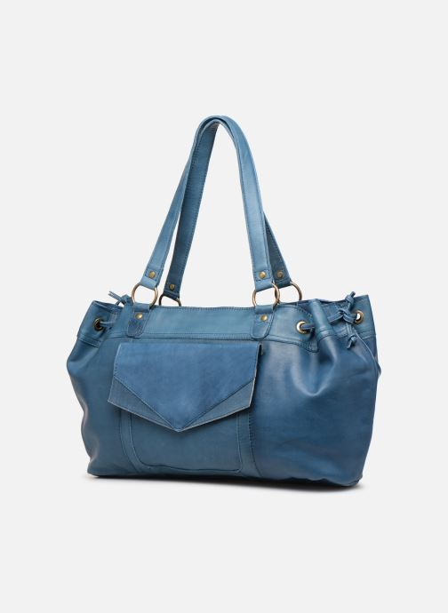 Handbags Pieces BETH LEATHER BAG Blue model view