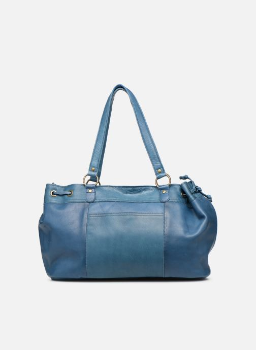 Handbags Pieces BETH LEATHER BAG Blue front view