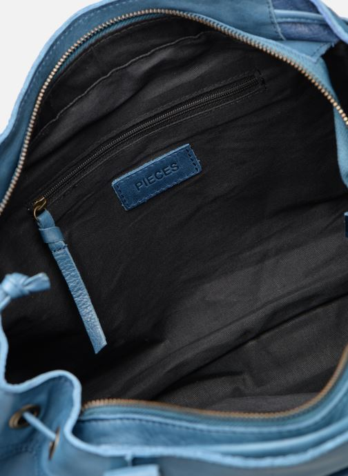 Handbags Pieces BETH LEATHER BAG Blue back view