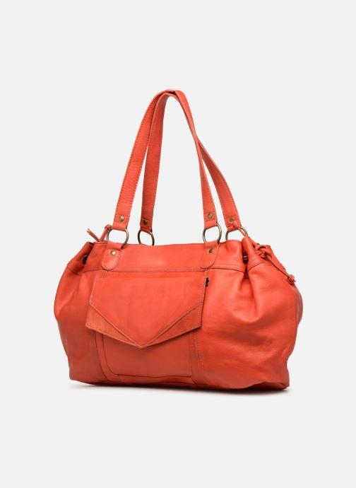 Handtassen Pieces BETH LEATHER BAG Roze model