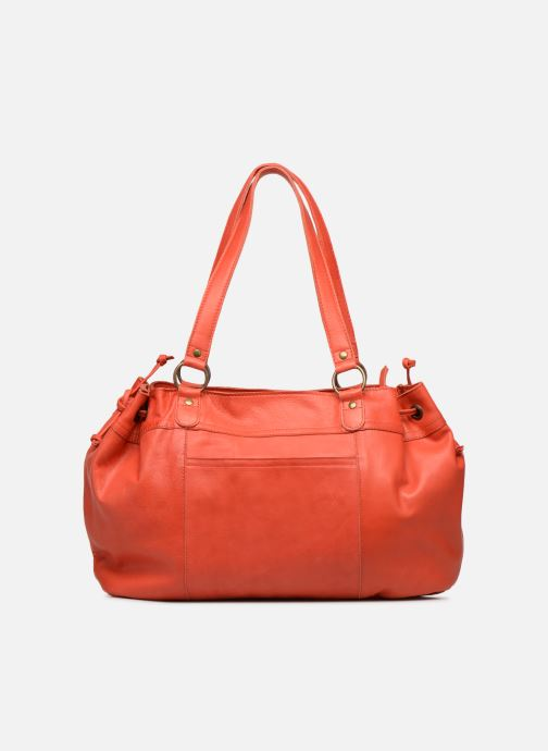 Handbags Pieces BETH LEATHER BAG Pink front view