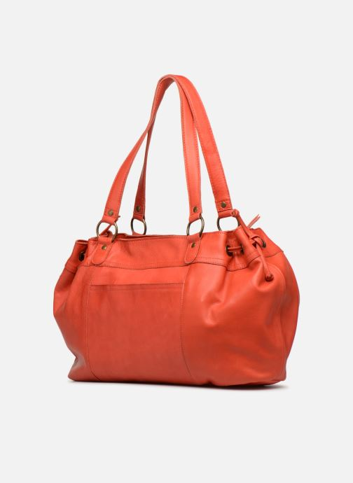 Handbags Pieces BETH LEATHER BAG Pink view from the right