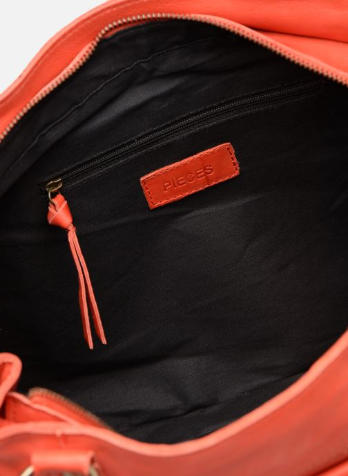 Handtassen Pieces BETH LEATHER BAG Roze achterkant