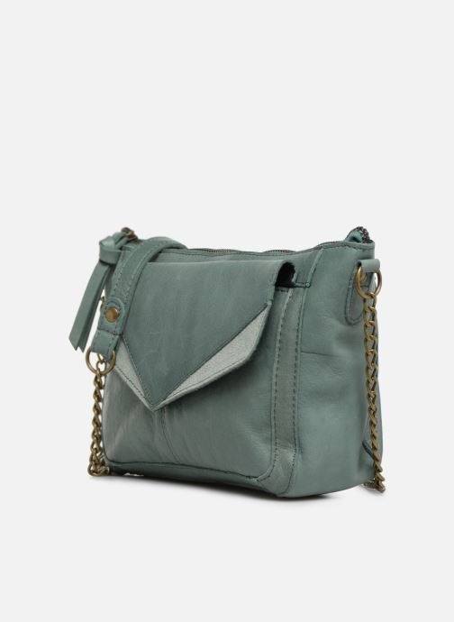 Handbags Pieces BETH LEATHER SMALL CROSSBODY Blue model view