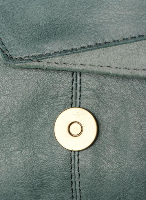 Bolsos de mano Pieces BETH LEATHER SMALL CROSSBODY Azul vista lateral izquierda