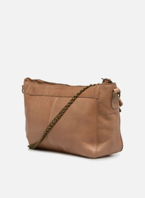 Bolsos de mano Pieces BETH LEATHER SMALL CROSSBODY Marrón vista lateral derecha