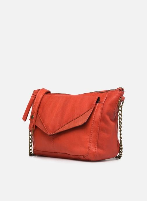 Bolsos de mano Pieces BETH LEATHER SMALL CROSSBODY Rosa vista del modelo