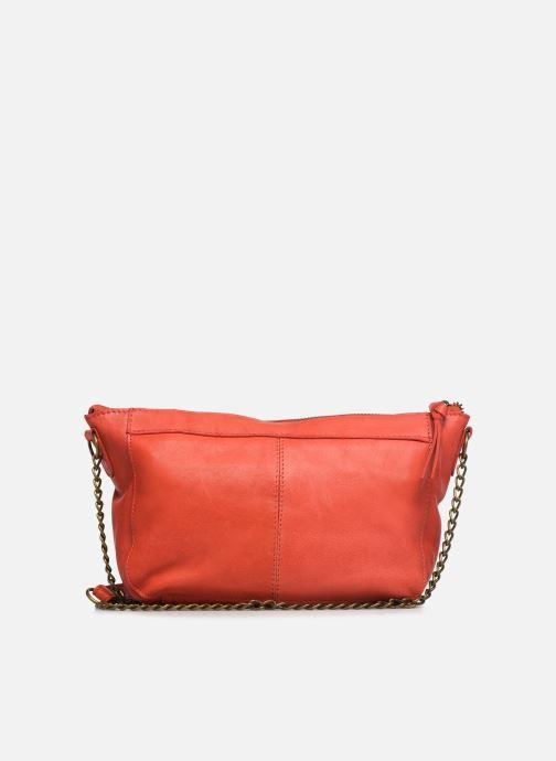 Handtassen Pieces BETH LEATHER SMALL CROSSBODY Roze voorkant