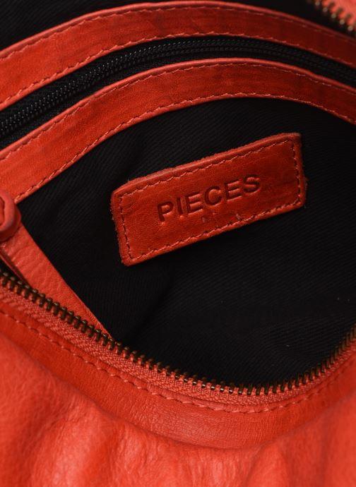 Handtaschen Pieces BETH LEATHER SMALL CROSSBODY rosa ansicht von hinten
