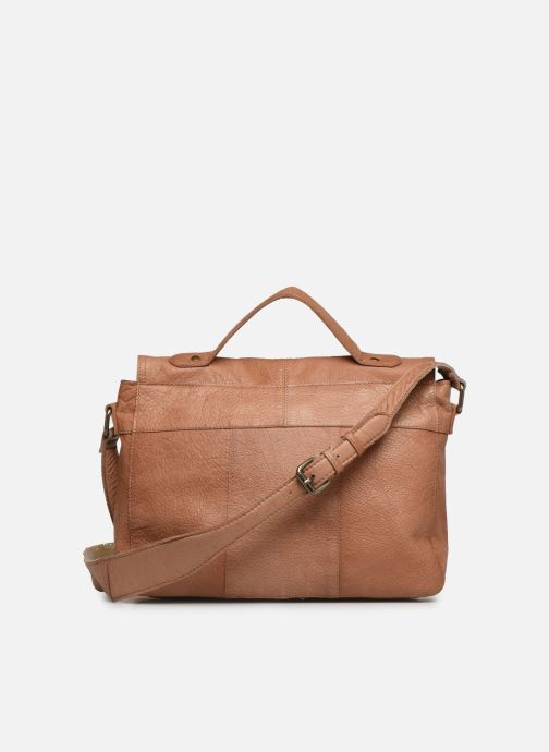 Sacs à main Pieces BETHANY LEATHER LARGE CROSSBODY Marron vue face