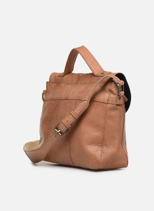 Bolsos de mano Pieces BETHANY LEATHER LARGE CROSSBODY Marrón vista lateral derecha