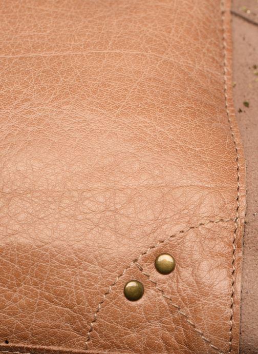 Bolsos de mano Pieces BETHANY LEATHER CROSSBODY Marrón vista lateral izquierda