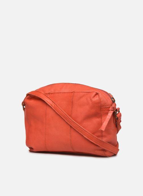 Handtaschen Pieces BETHANY LEATHER CROSSBODY rot ansicht von rechts