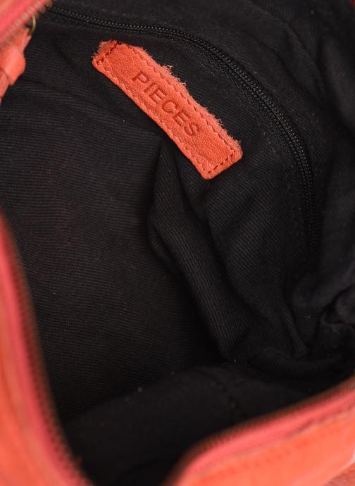 Handtaschen Pieces BETHANY LEATHER CROSSBODY rot ansicht von hinten