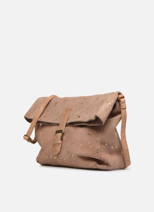 Handtaschen Pieces BRENDA LEATHER CROSSBODY gold/bronze schuhe getragen