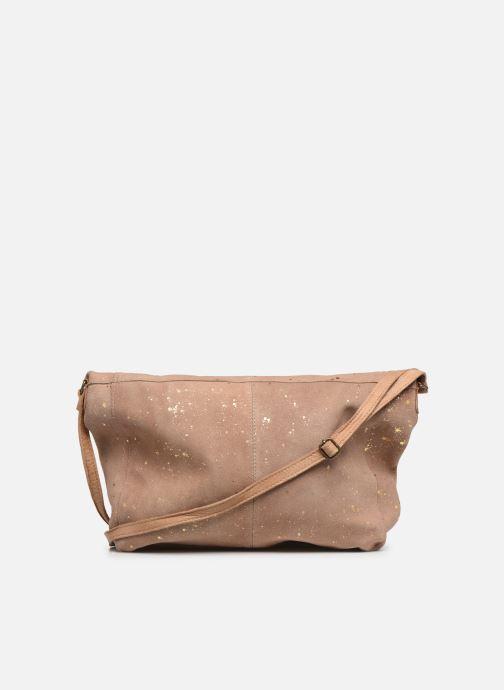 Handtaschen Pieces BRENDA LEATHER CROSSBODY gold/bronze ansicht von vorne