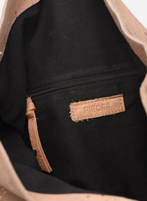 Handtaschen Pieces BRENDA LEATHER CROSSBODY gold/bronze ansicht von hinten