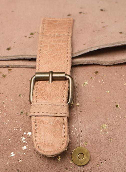 Handtaschen Pieces BRENDA LEATHER CROSSBODY gold/bronze ansicht von links