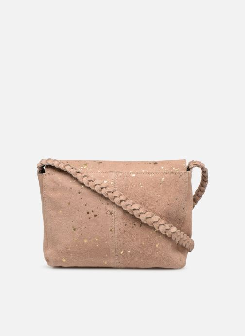 Handbags Pieces BRANDY SUEDE CROSSBODY Bronze and Gold front view