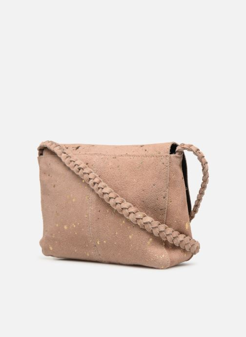 Handbags Pieces BRANDY SUEDE CROSSBODY Bronze and Gold view from the right