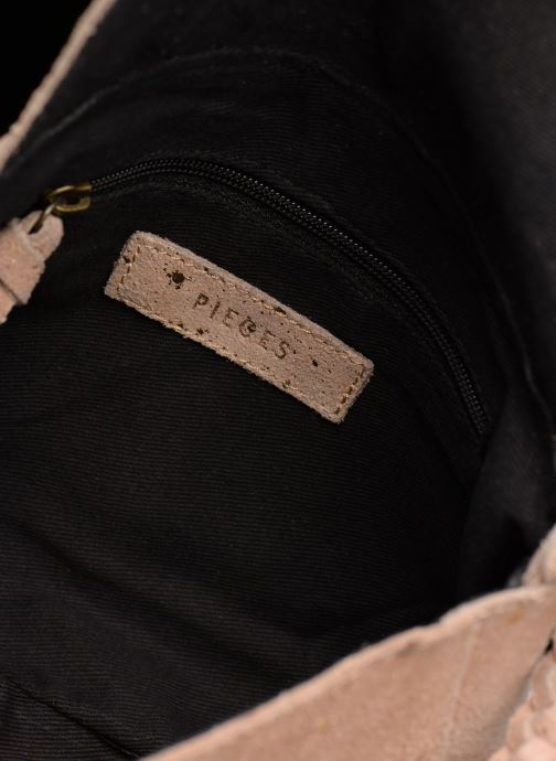 Handbags Pieces BRANDY SUEDE CROSSBODY Bronze and Gold back view