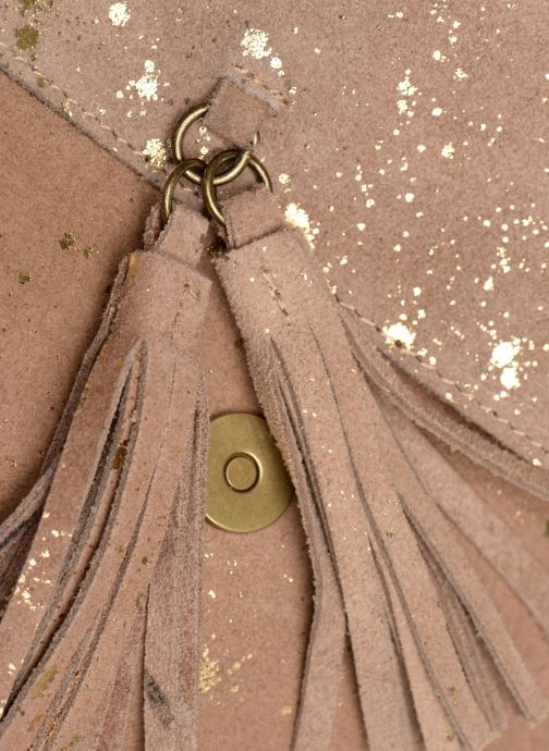 Handbags Pieces BRANDY SUEDE CROSSBODY Bronze and Gold view from the left