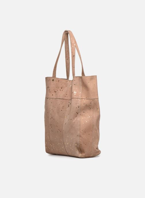 Sacs à main Pieces BRANDY SUEDE SHOPPER Rose vue droite