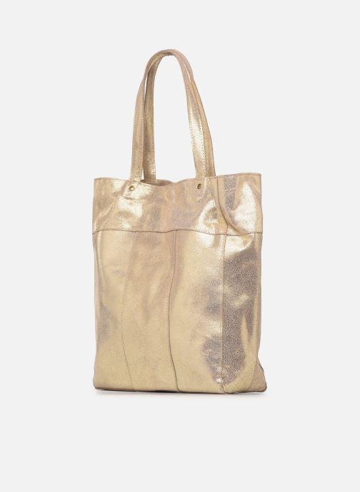 Handtaschen Pieces BRANDY SUEDE SHOPPER beige schuhe getragen