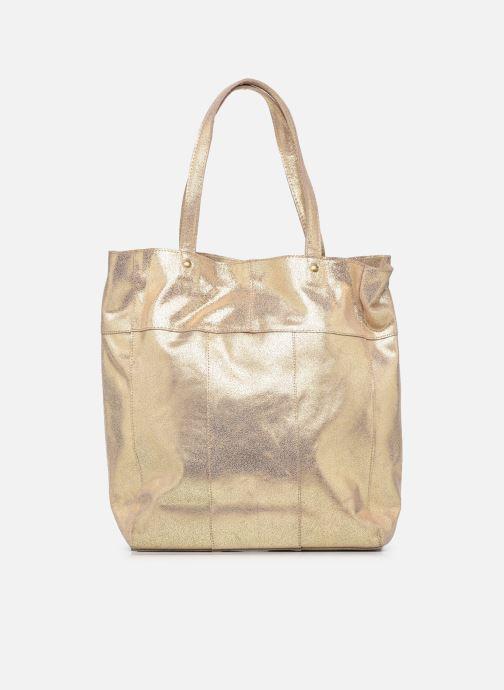 Handtaschen Pieces BRANDY SUEDE SHOPPER beige ansicht von vorne