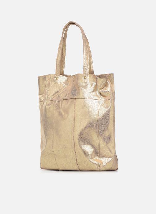 Handtaschen Pieces BRANDY SUEDE SHOPPER beige ansicht von rechts