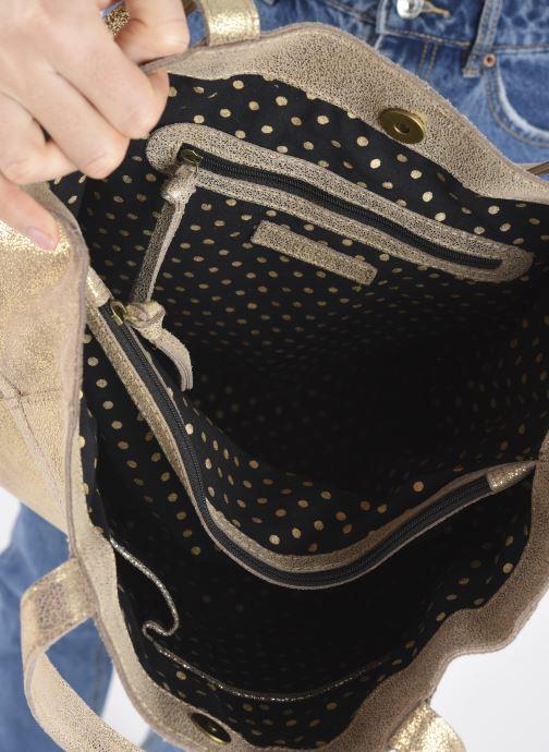 Handtaschen Pieces BRANDY SUEDE SHOPPER beige ansicht von hinten