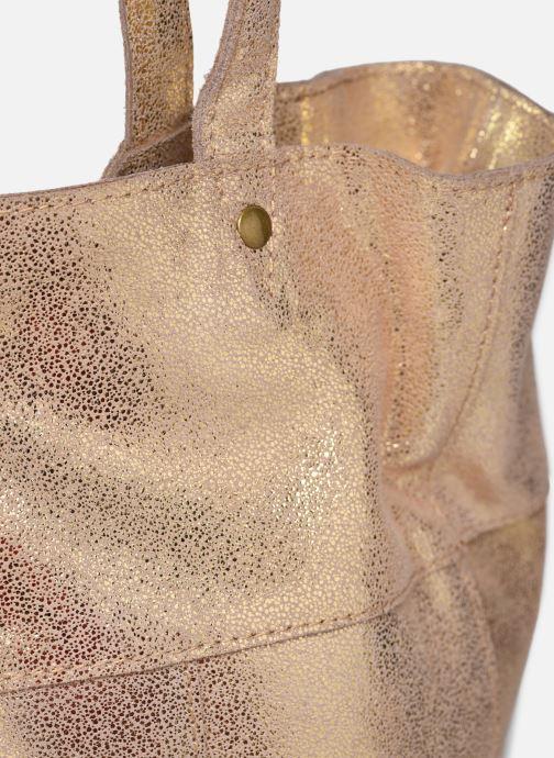 Handtaschen Pieces BRANDY SUEDE SHOPPER beige ansicht von links